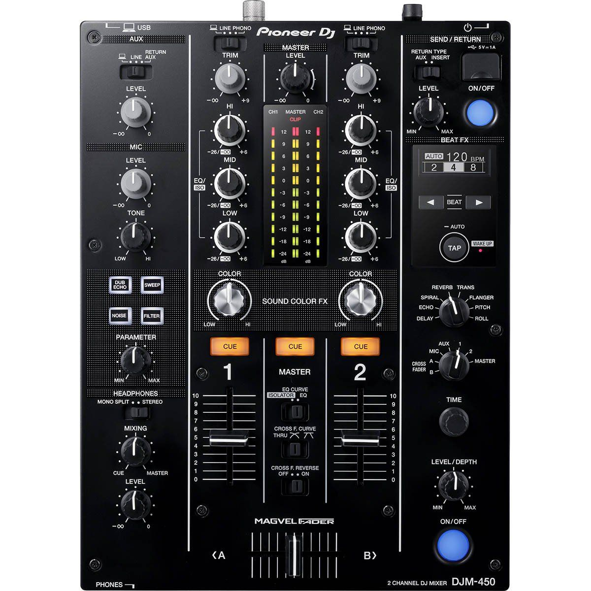 Pioneer DJM450 Mixer Pioneer DJM-450 com 2 Canais