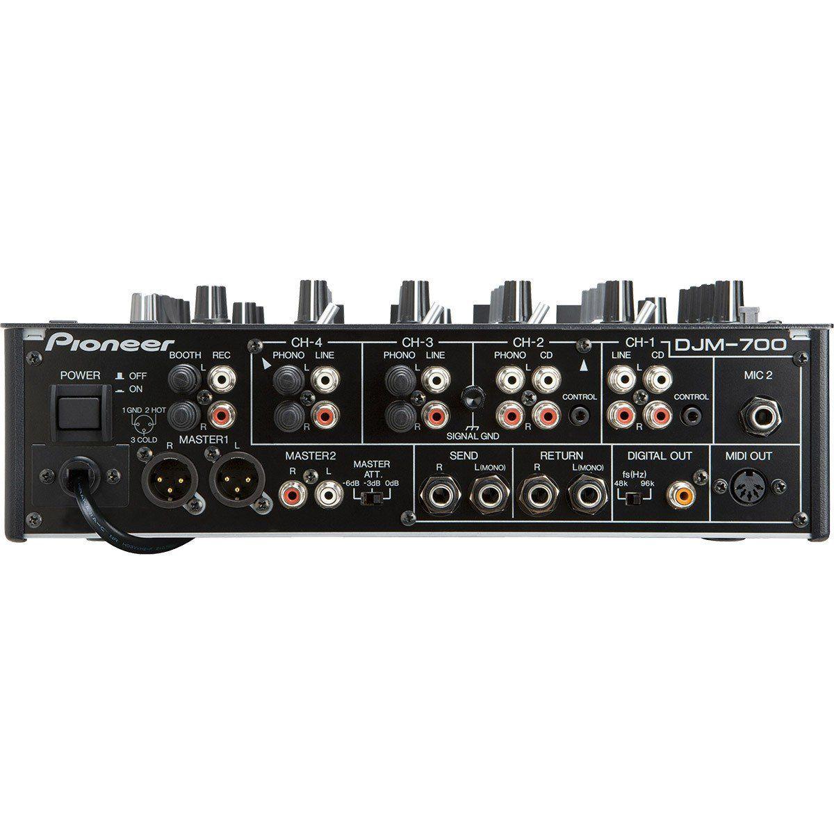 Pioneer DJM-700 Mixer de 4 Canais Pioneer DJM700 para DJ Profissional