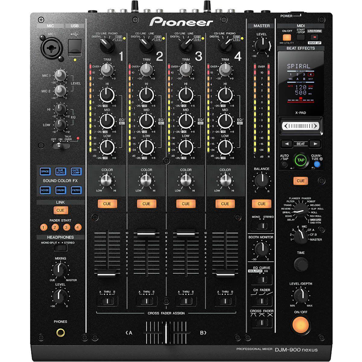 Pioneer DJM-900 Mixer de 4 Canais Pioneer DJM-900 Nexus para DJ Profissional