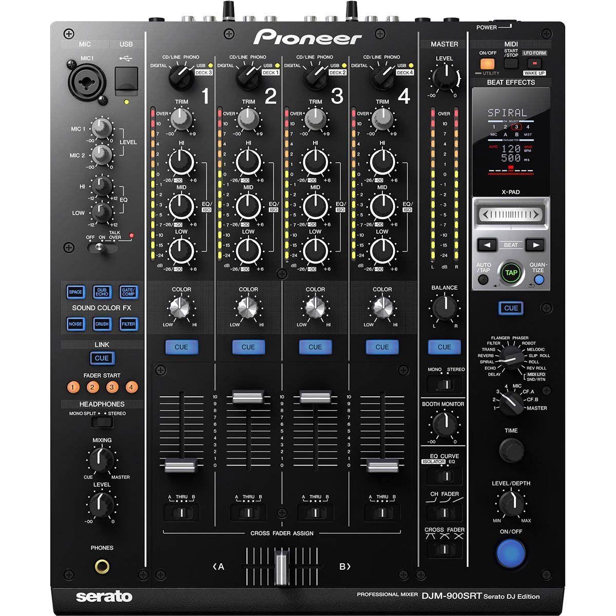Pioneer DJM-900 Mixer Pioneer DJM-900 SRT 4 Canais com Serato Integrado