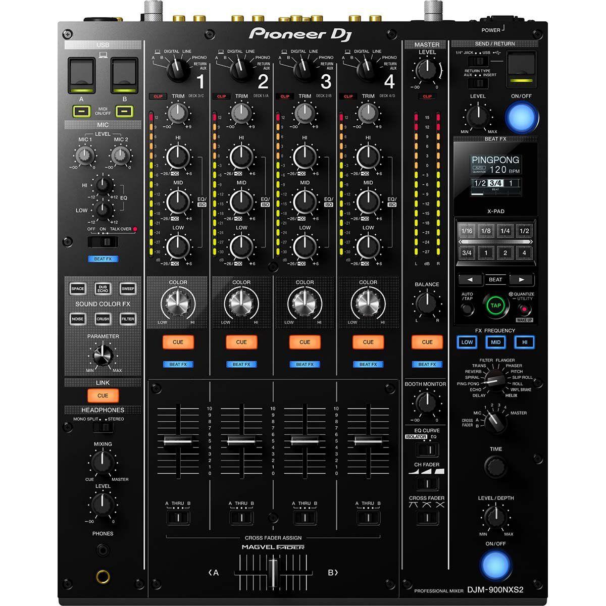 Pioneer DJM 900 Nexus 2 Mixer Pioneer DJM-900 Nexus 2 com 4 Canais