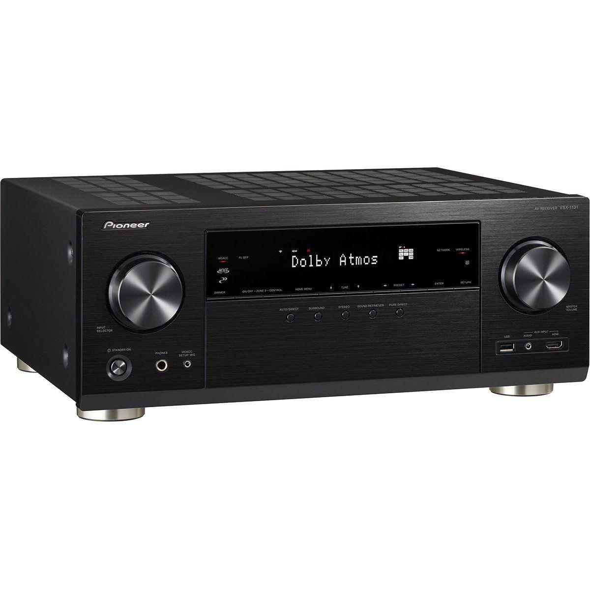 Pioneer Home VSX-1131K Receiver com Dolby Atmos 4K Wi-Fi para Home Theater