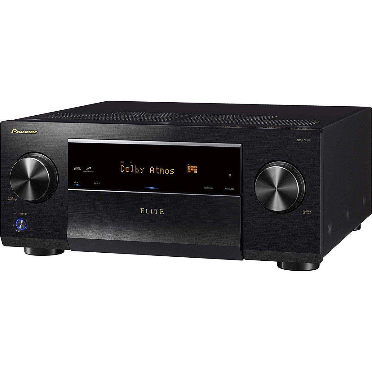 Pioneer SC-LX501 Receiver com 7.2 Canais Resolução 4K e Conexão Wi-Fi para Home Theater