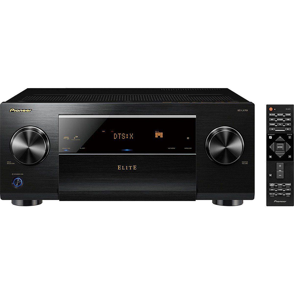 Pioneer SC-LX701 Receiver com 9.2 Canais 4K 3D para Sistemas Home Theater