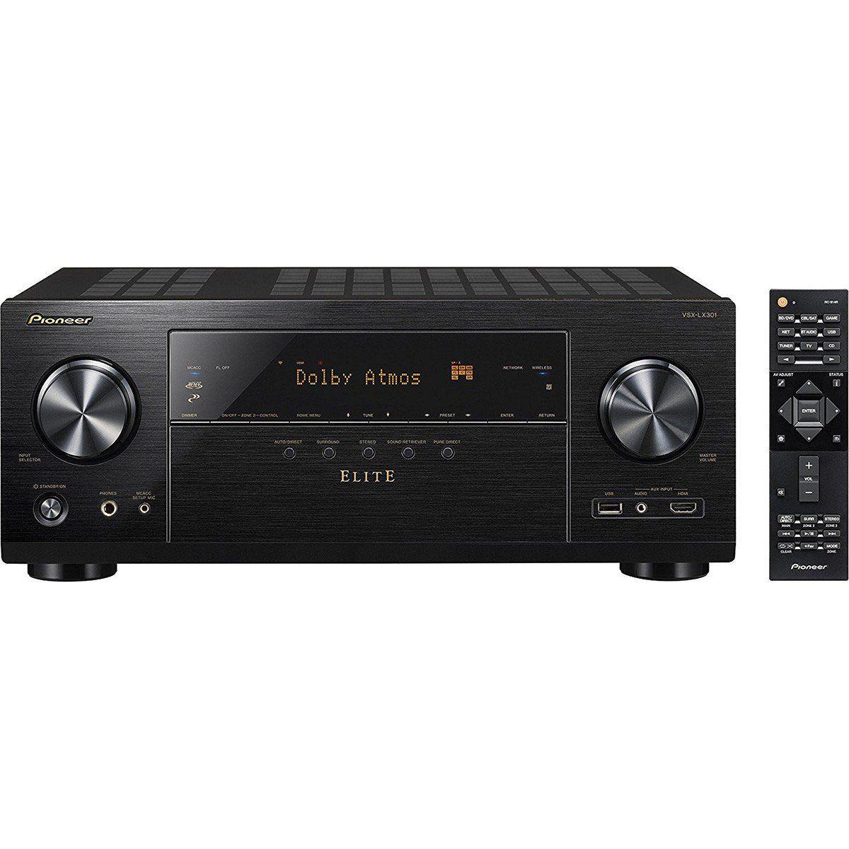 Pioneer VSX-LX301 Elite Receiver para Sistemas Home Theater 7.2 4K Wi-Fi Bluetooth