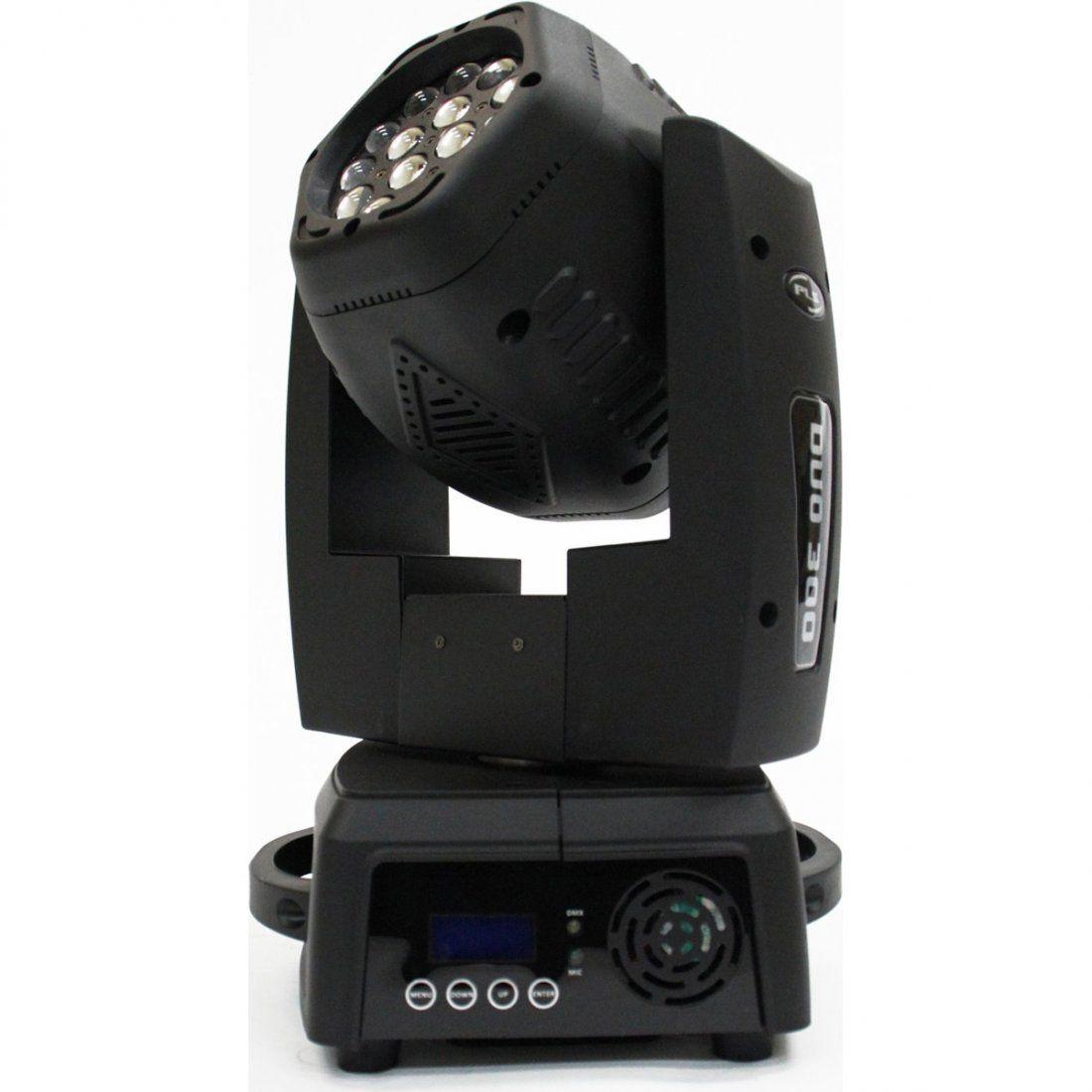 Pls Duo 300 Moving Head para Iluminação de Festas com 2 Saídas de Luz e 15 LEDs