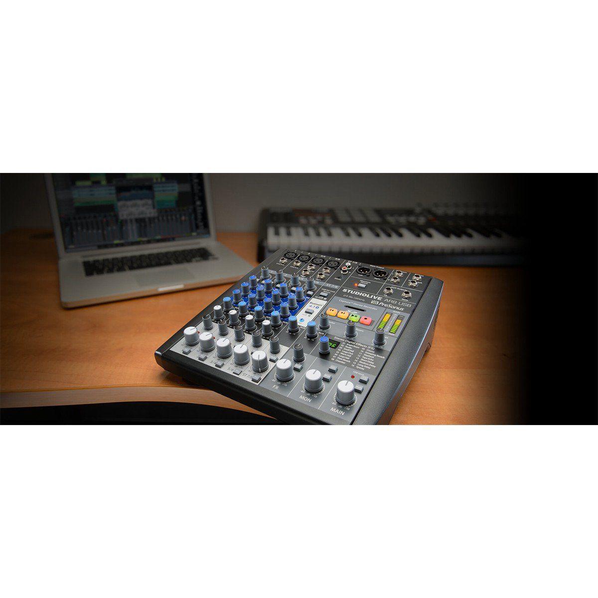 Presonus StudioLive AR8USB Mesa de Som AR-8-USB 8 Canais Analógica e Digital