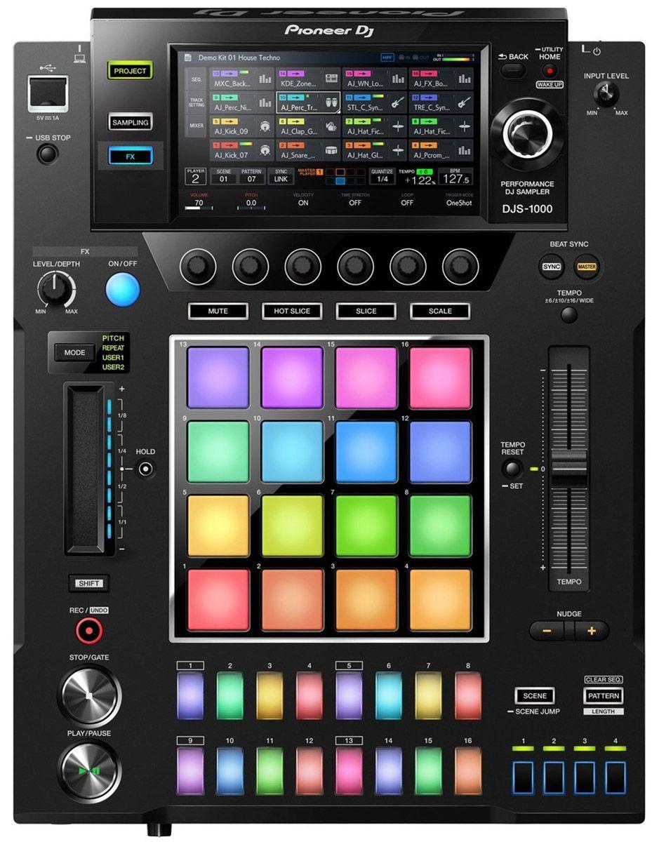 Pioneer DJS-1000 Sampler USB Pioneer DJS1000 Independente 16 Pads