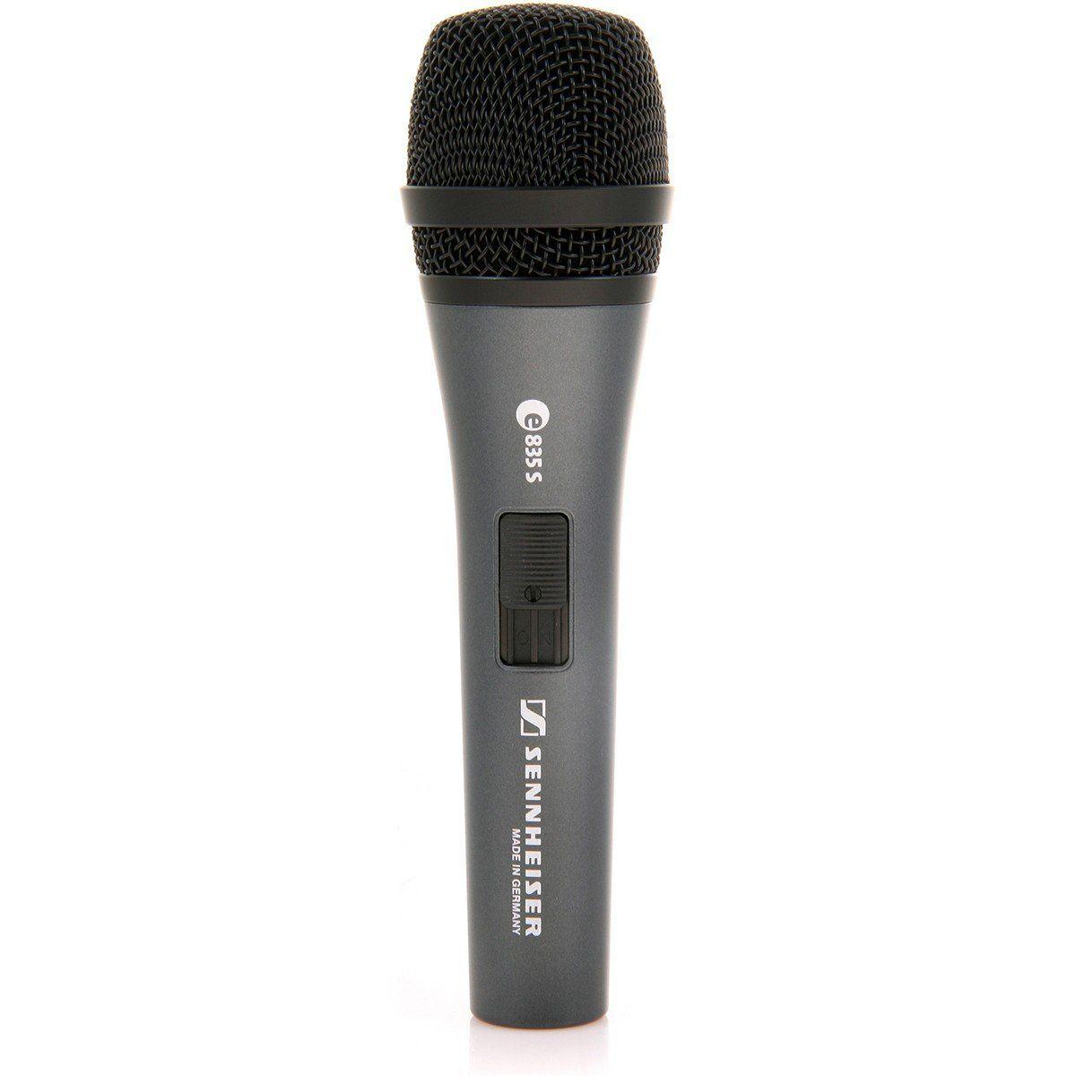 Sennheiser E 835-S Microfone  Dinâmico Cardioide Sennheiser E835S para Palco e Vocais