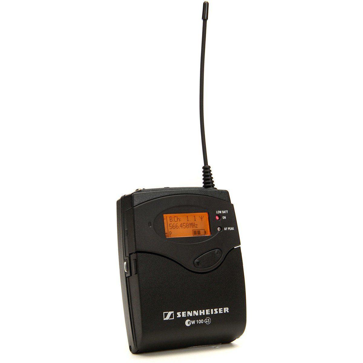Sennheiser EW122-G3 Microfone de lapela Sennheiser EW 122 G3 ME4 para Aplicações de Voz