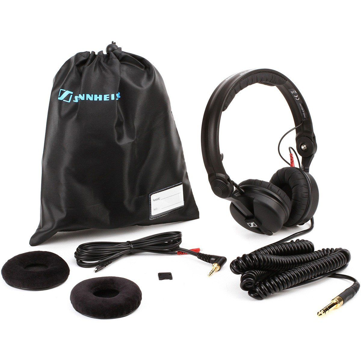 Sennheiser HD25 Plus Fone de Ouvido HD-25 Plus Fechado para Monitoramento  e DJ