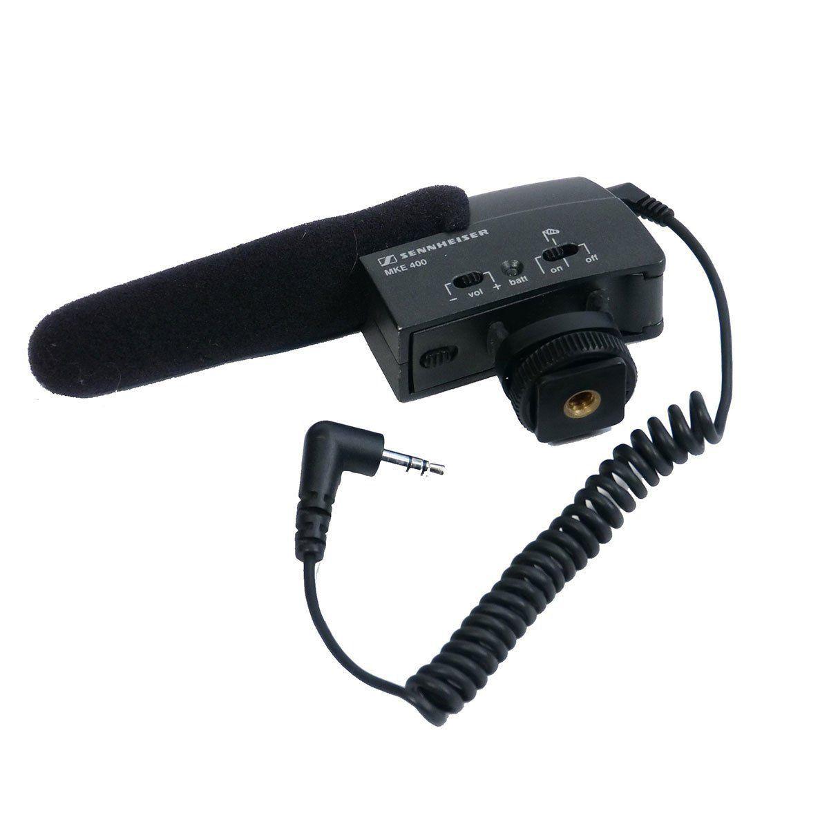 Sennheiser MKE 400 Microfone Shotgun MKE400 Captura de Sons Sem Ruídos