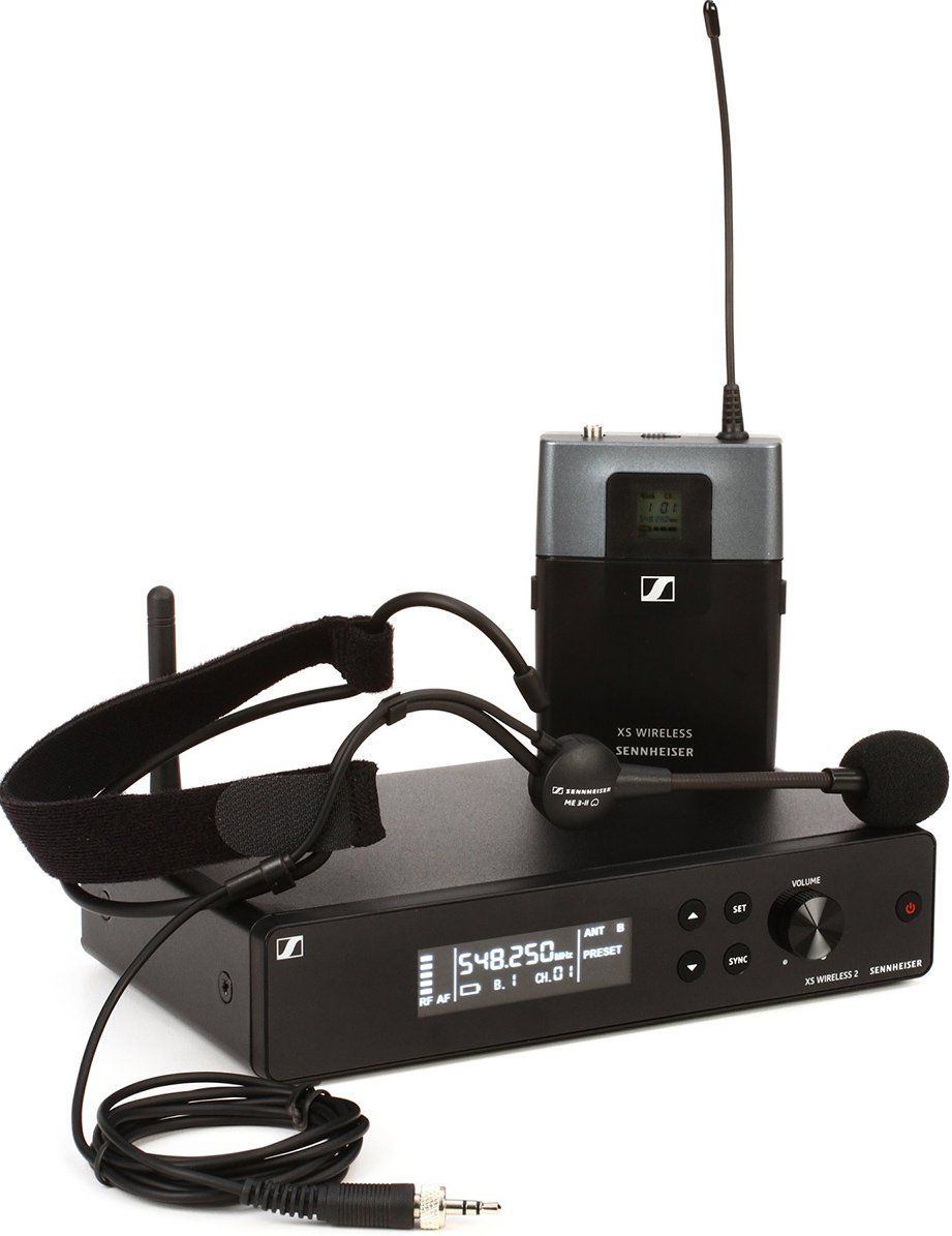 Sennheiser XSW 2-ME3 Sistema sem fio Sennheiser XSW 2ME3 com Microfone headset