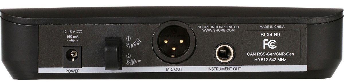 Shure BLX24/PG58 Microfone sem fio Shure BLX24-PG58 para Vocais e Performances