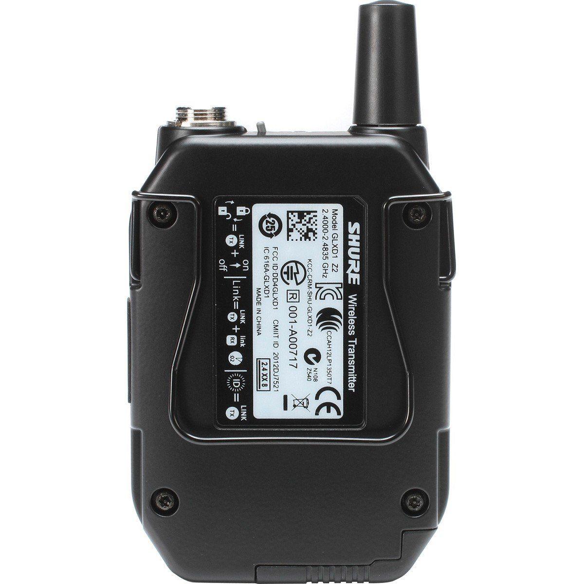 Shure GLXD14/WL93 Microfone de Lapela Shure GLXD14 WL93 para Teatros e Gravações