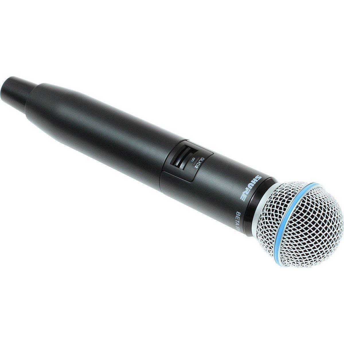 Shure GLXD24/Beta58A Microfone Sem fio Shure GLXD24/B58A para Palco e Performances