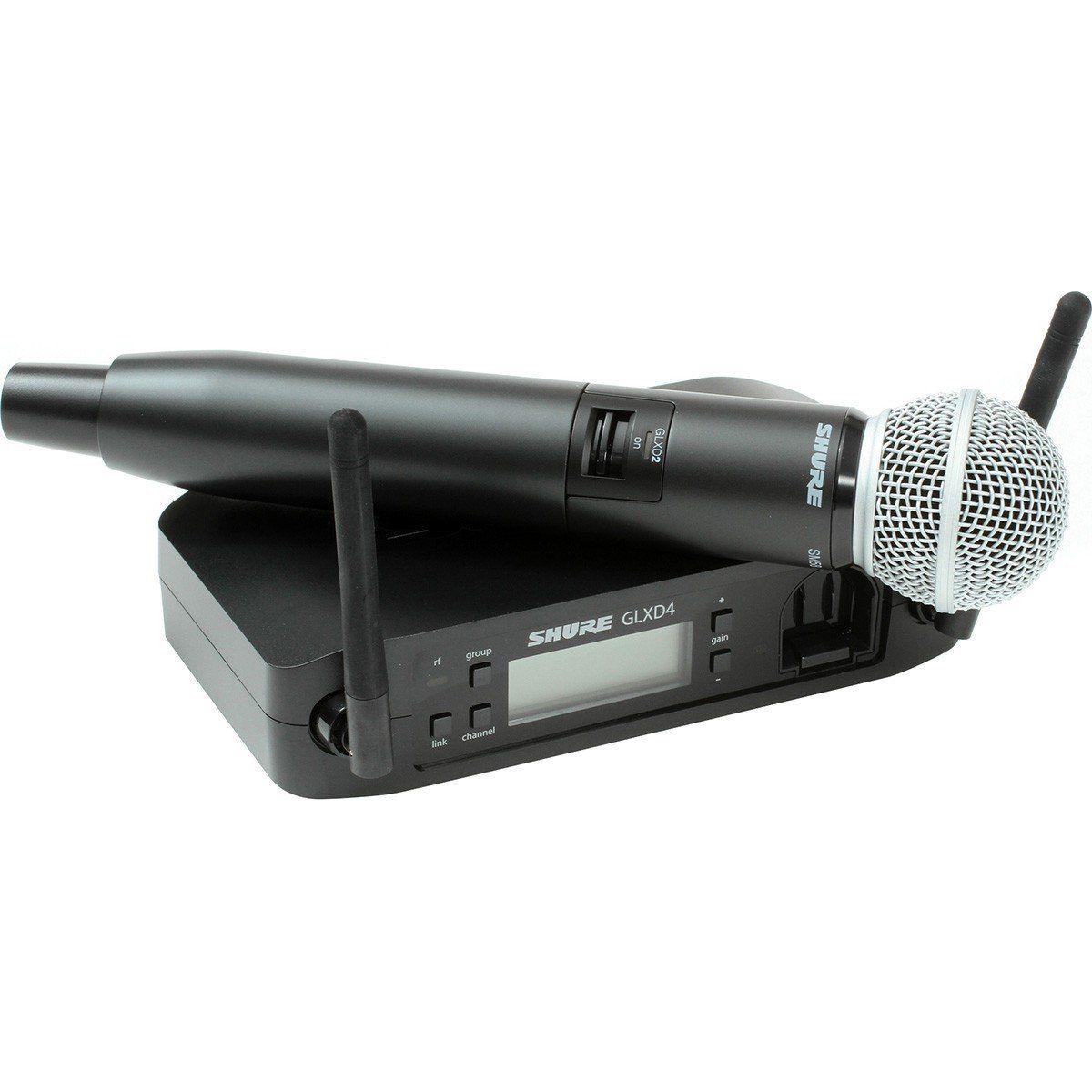 Shure GLXD24/SM58 Microfone Shure GLXD24 SM58 Sistema sem Fio para Vocais e Palcos
