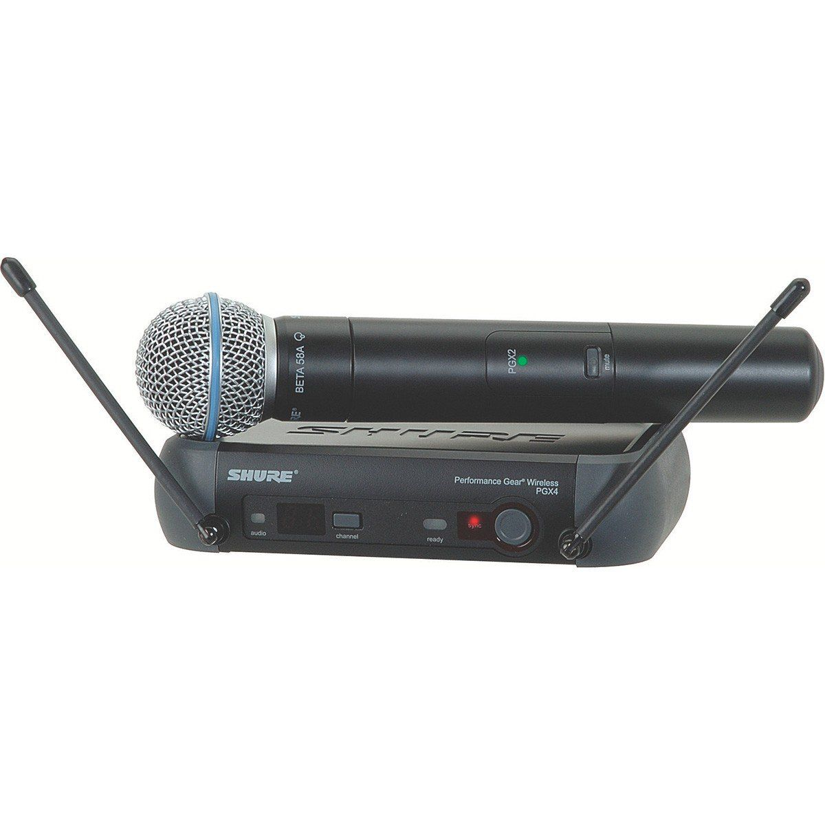 Shure PGX24/Beta58A Microfone Sem fio Shure PGX24/B58A para Vocais e Palco