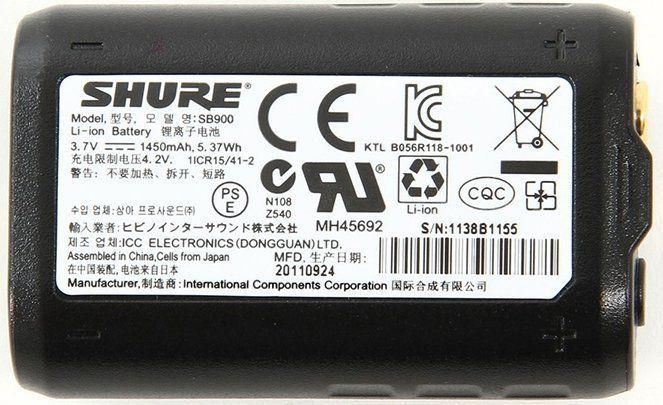 Shure SB900 Bateria Recarregável SB 900
