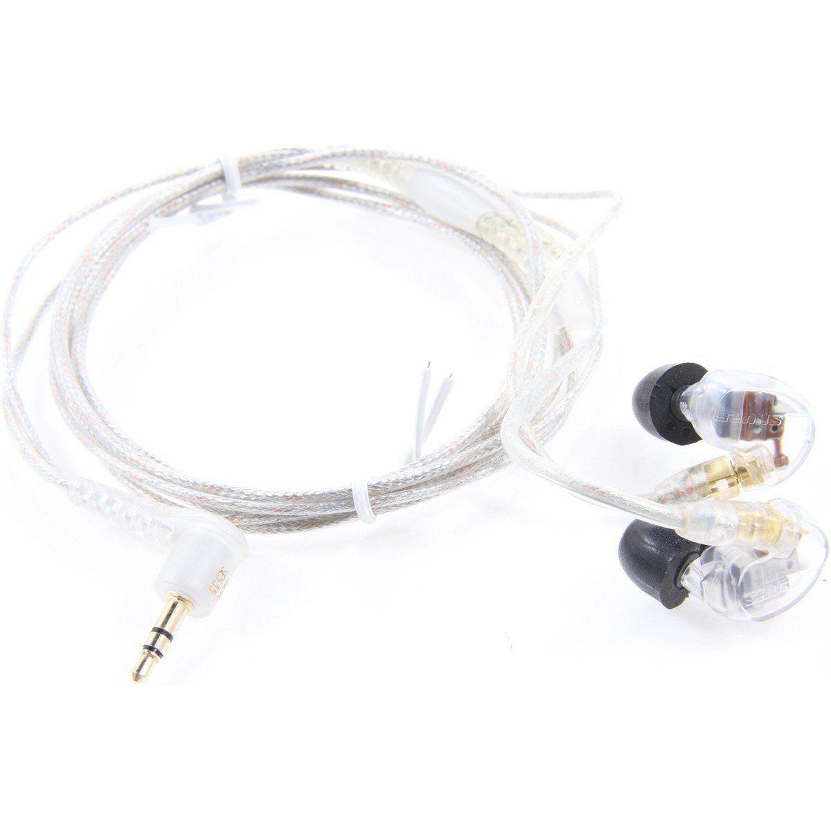 Shure SE535-CL Fone de Ouvido SE-535CL In-Ear para Palcos e Sons Graves