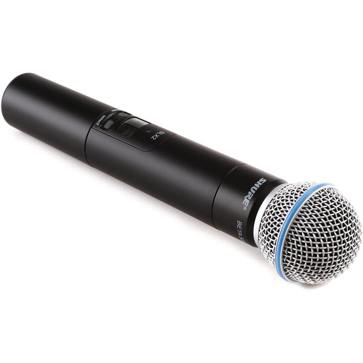 Shure SLX24/Beta58A Microfone Sem fio Shure SLX24 B58A para Apresentações e Igrejas
