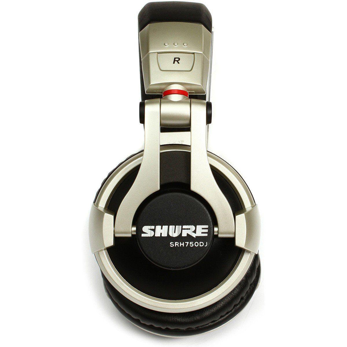 Shure SRH750DJ Fone de Ouvido SRH-750DJ para Monitoramento e Mixagem Dj Profissional