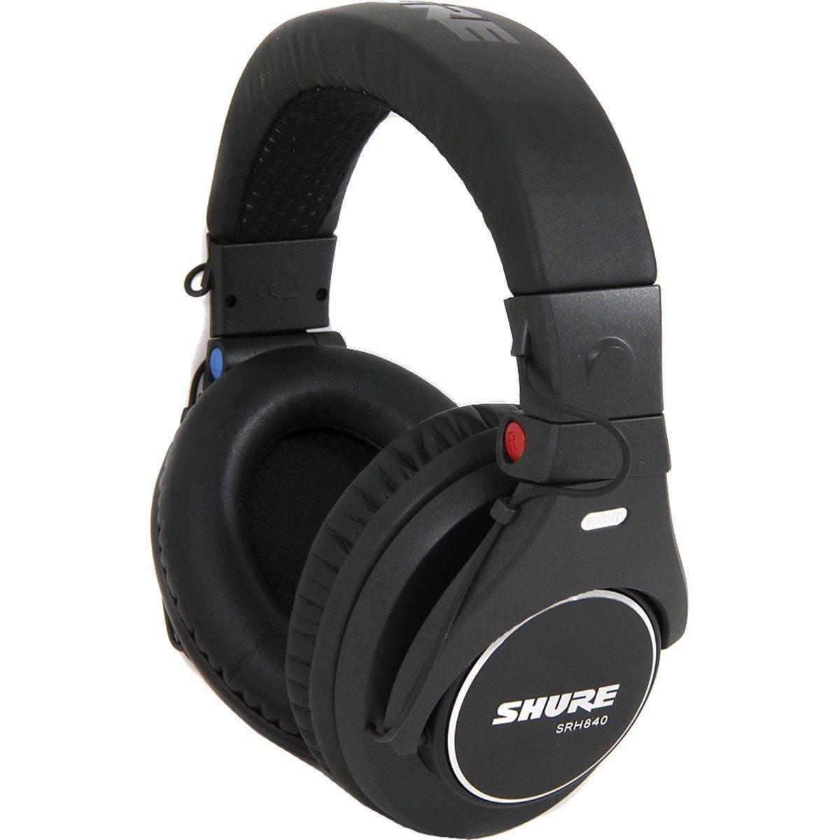 Shure SRH840 Fone de Ouvido SRH-840 Fechado para Monitoramento Profissional