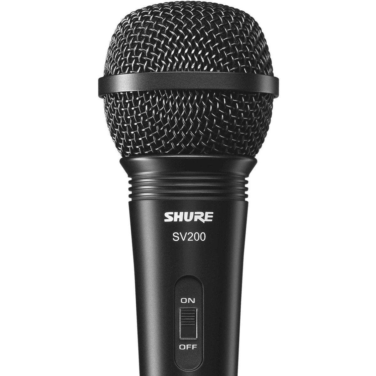 Shure SV200 Microfone Dinâmico Cardioide Shure-SV200 para Vocais e Karaokê