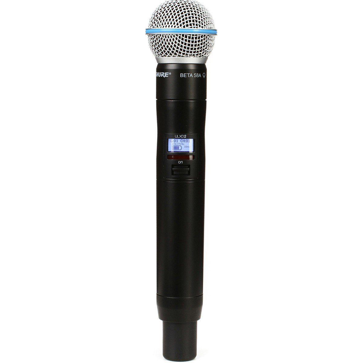 Shure ULXD2/Beta58A Microfone Shure ULXD2-B58A para Vocais e Palco