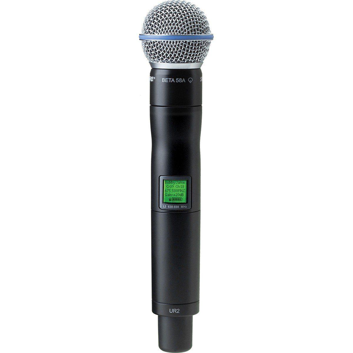 Shure UR2/Beta58A Microfone Shure UR2 B58A para Série UHF-R
