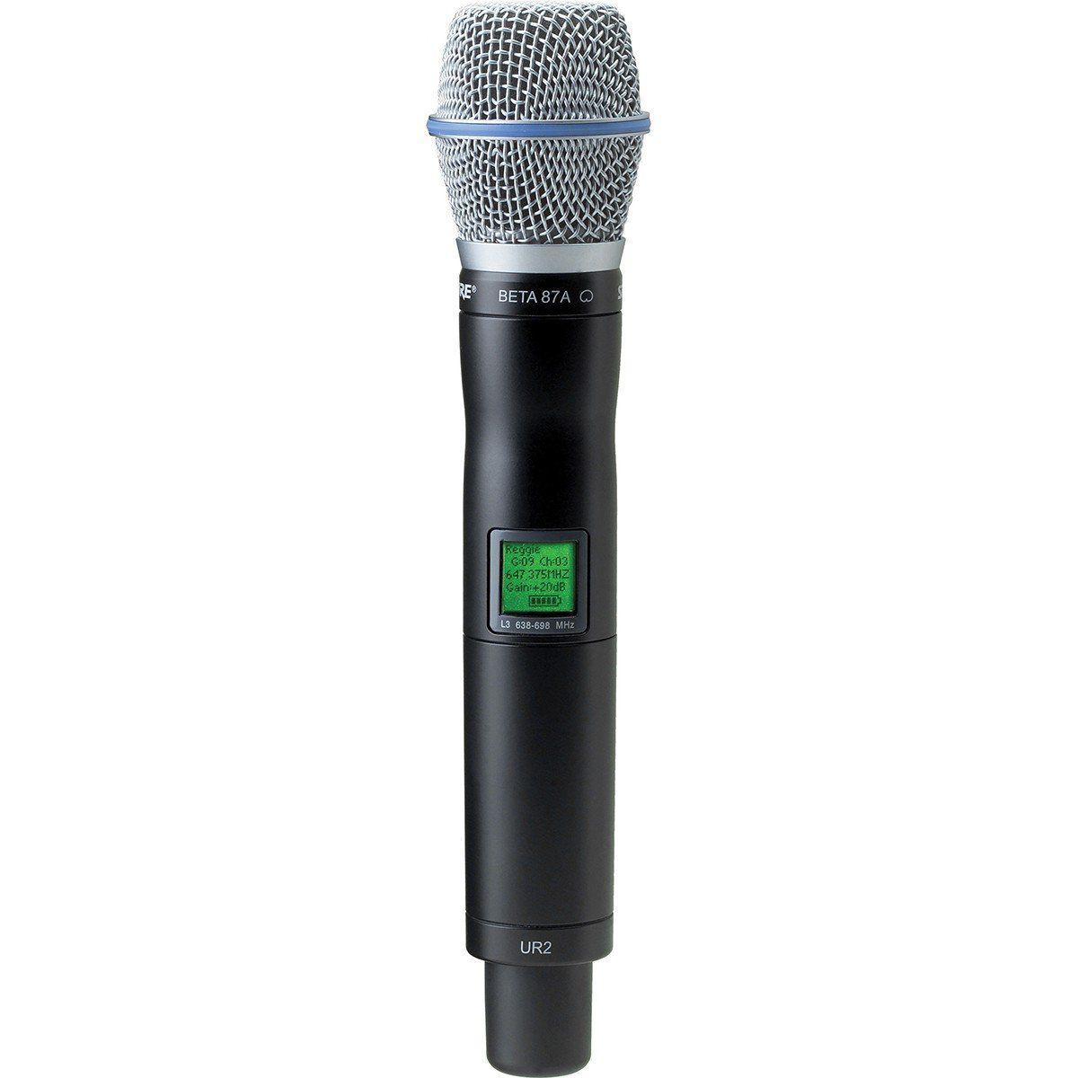 Shure UR2/Beta87A Microfone sem fio Shure UR2 B87A para a Série UHF-R