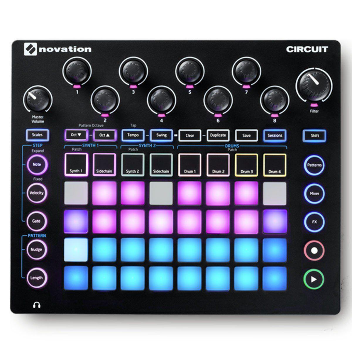 Novation Circuit Sintetizador Para Produção Musical Samples Beats