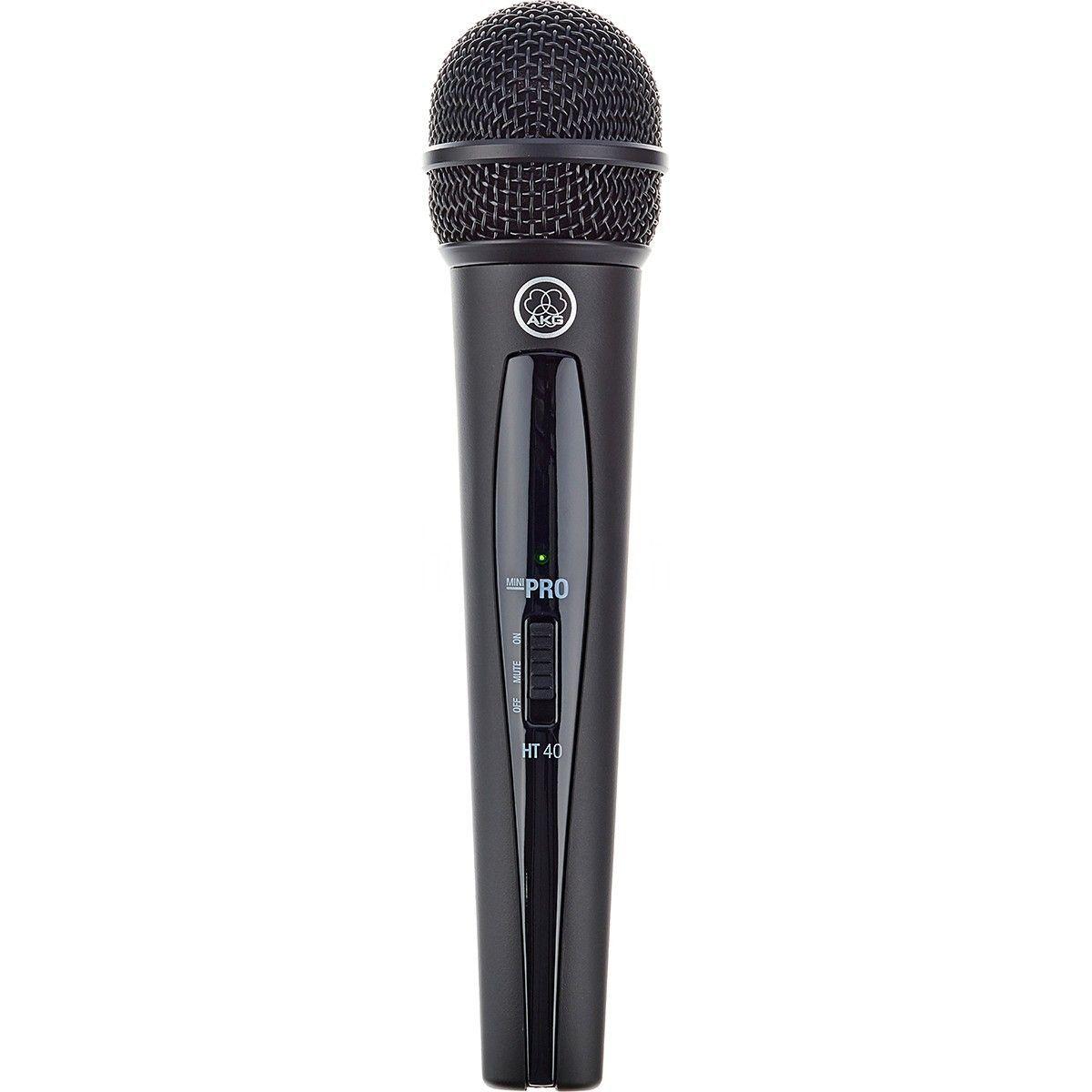 Usado - Akg WMS40 Mini Single Vocal Set Microfone Sem Fio Akg WMS-40 Mini Single Vocal Set