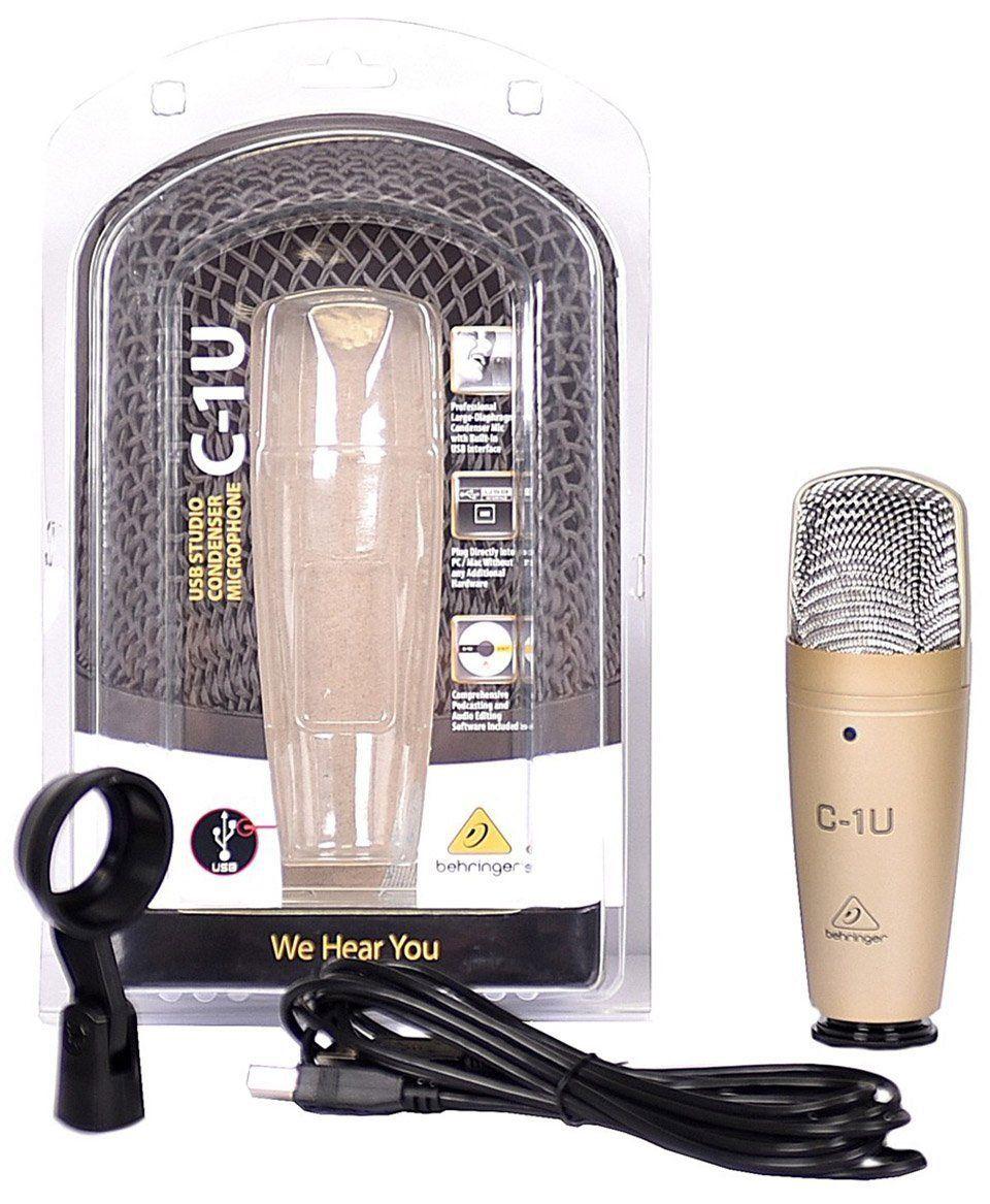 Usado - Behringer C1U Microfone Condensador Usb, Ideal para Gravações