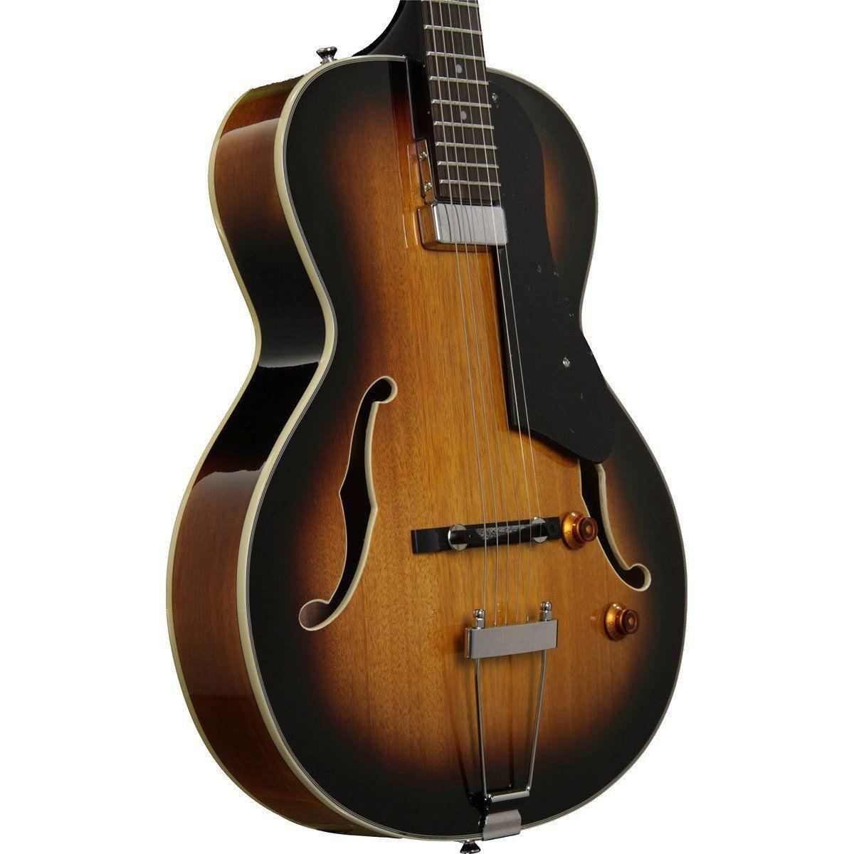 Washburn HB15TS Semiacústico Hollowbody Guitarra Sunburst com Bag para Jazz e Blues
