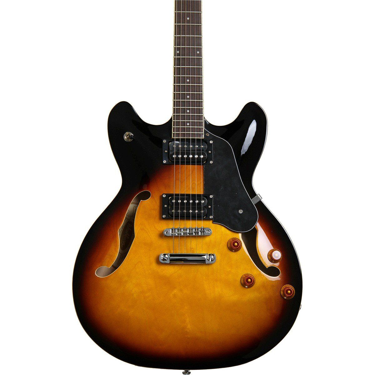 Washburn HB30 Guitarra Semiacústica Hollowbody com Bag para Jazz Blues Rock