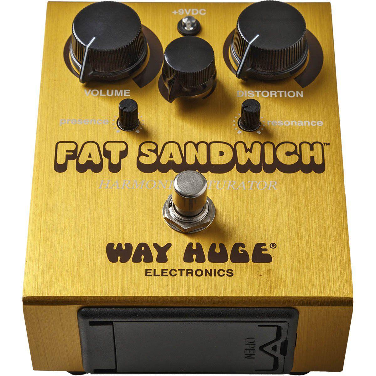Pedal Way Huge WHE301 Fat Sandwich de Distorção Ideal para Performances e Gravação