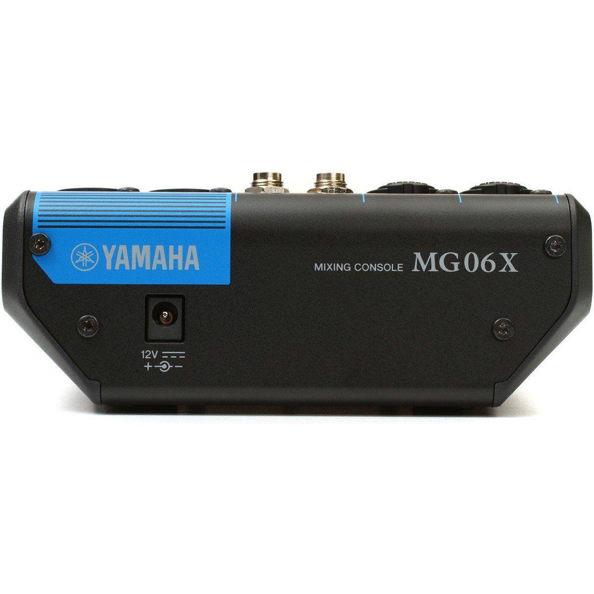 Yamaha MG06X Mesa de Som MG-6-X Analógica 6 Canais Profissional para Trabalhos Menores