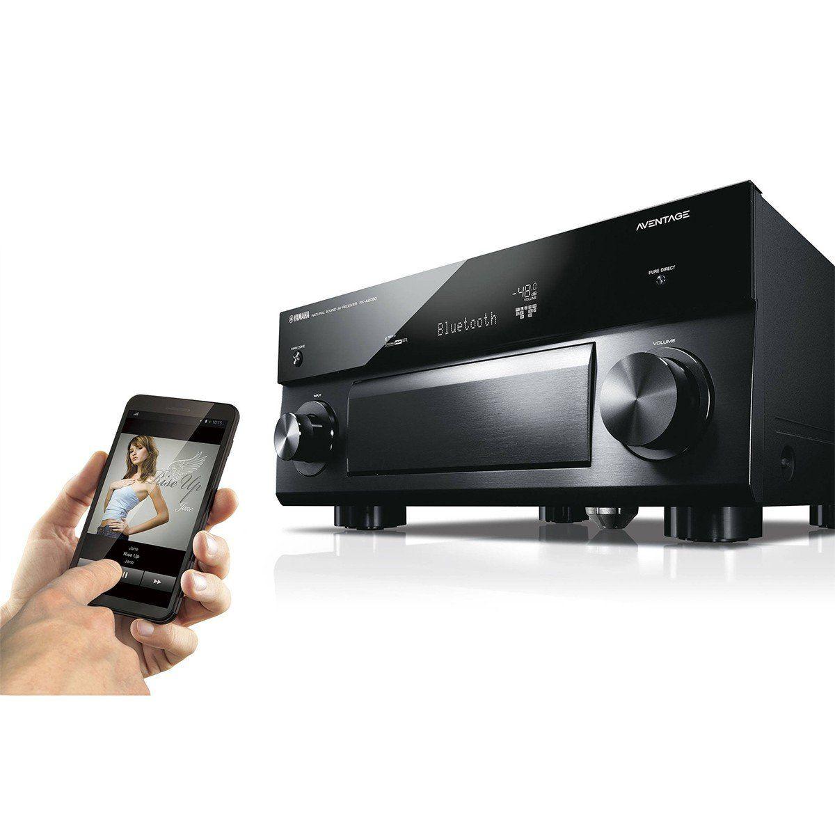 Yamaha RX-A2060BL Receiver com 9.2 Canais Resolução 4K para Sistemas Home Theater