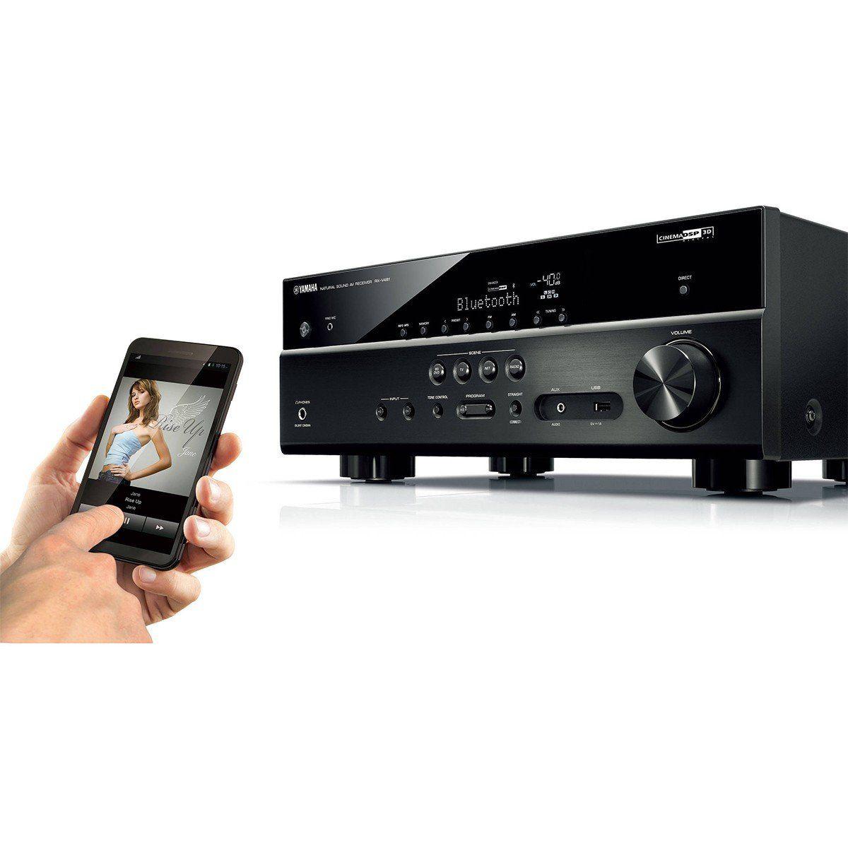 Yamaha RX-V481BK Receptor com 5.1 Canais Bluetooth Wi-Fi 4K Home Theater