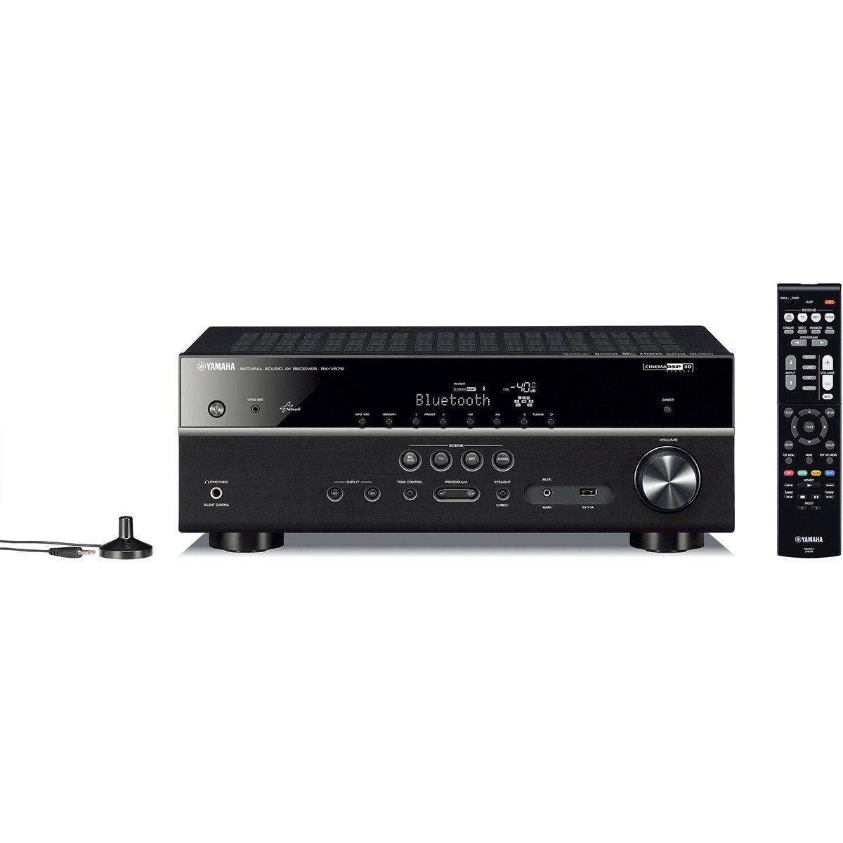 Receiver Yamaha RX-V579BT Receptor de 7.2 Canais Bluetooth Wi-Fi 4K para Home Theater
