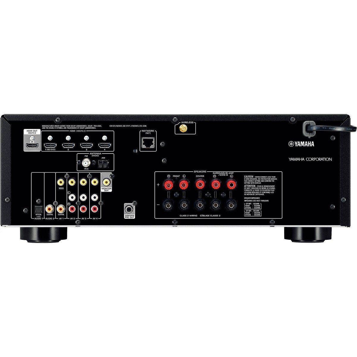 Yamaha RX-V681BL Receiver 7.2 Bluetooth Wi-Fi 4K para Sistemas Home Theater