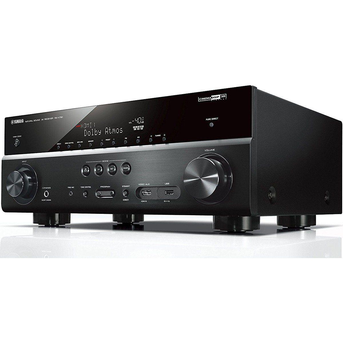 Yamaha RX-V781BL Receiver 7.2 Wi-Fi Bluetooth 4K para Sistemas Home Theater