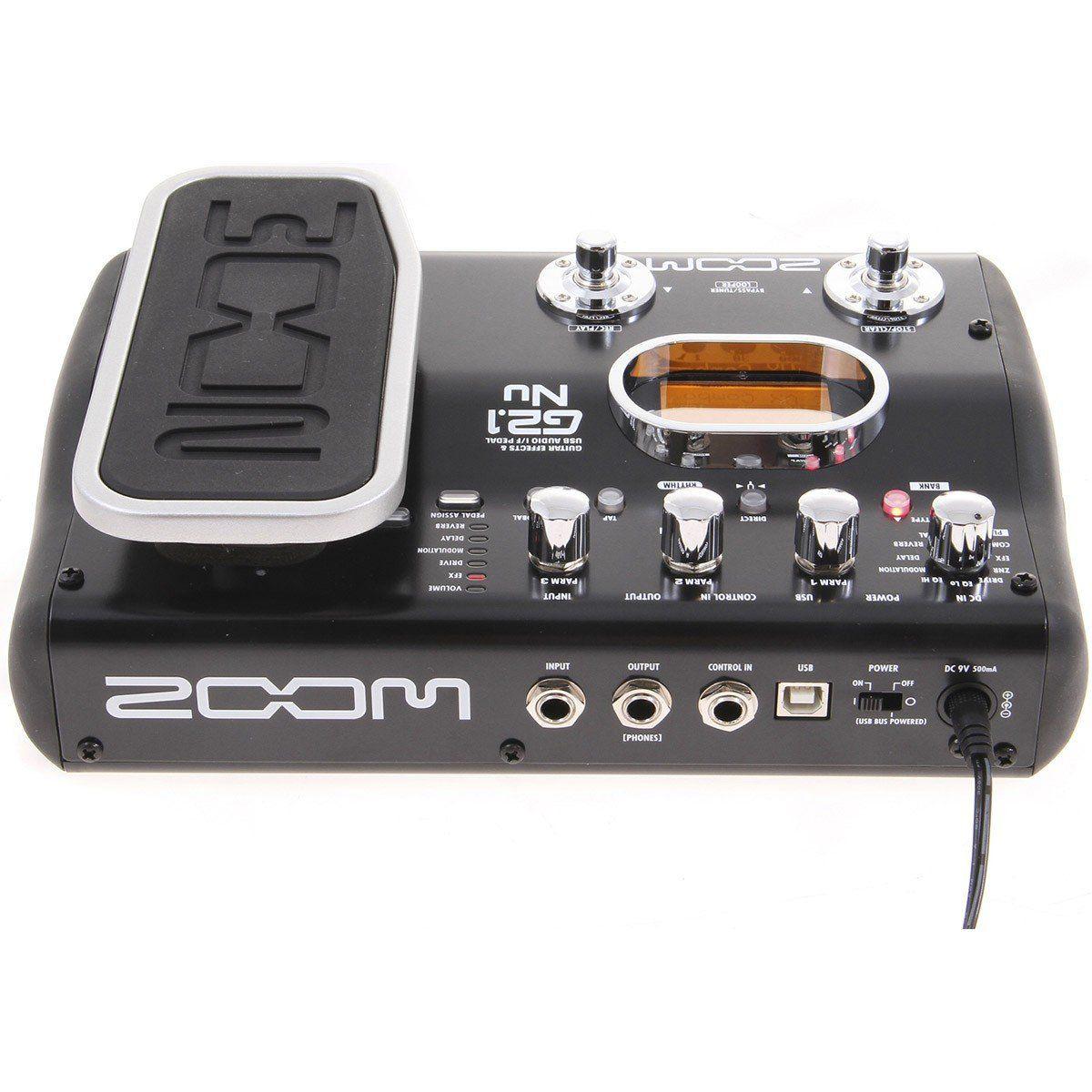 Zoom G2.1 NU Pedal para Guitarra com 83 Tipos de Efeitos e 30 Tipos de Amplificadores