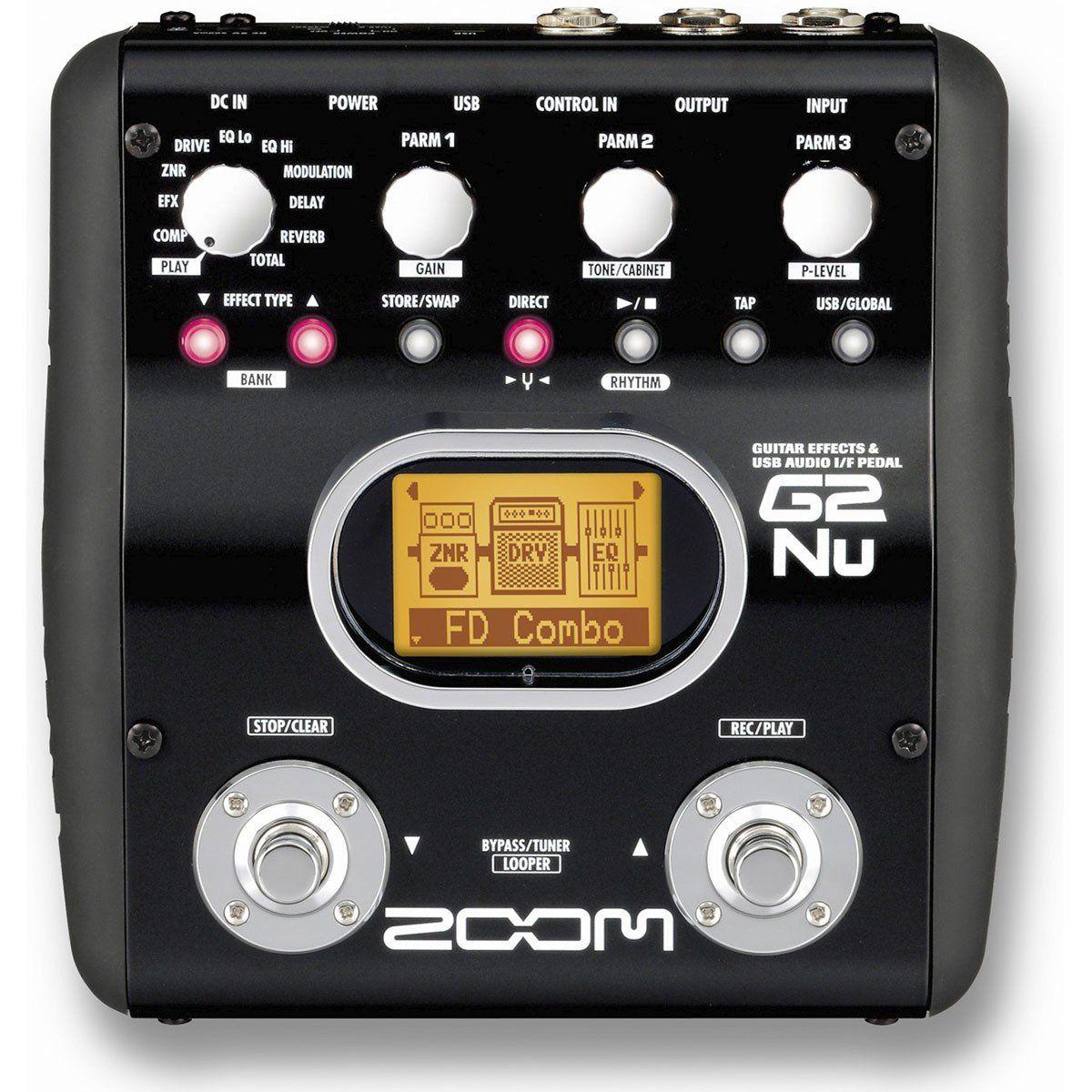Zoom G2 NU Pedal de Efeitos para Guitarra com 20 Modelos de Amplificação