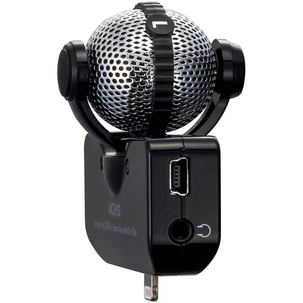 Zoom iQ5 Gravador de Áudio Zoom iQ-5 Microfone Estéreo iPad iPhone iPod Touch