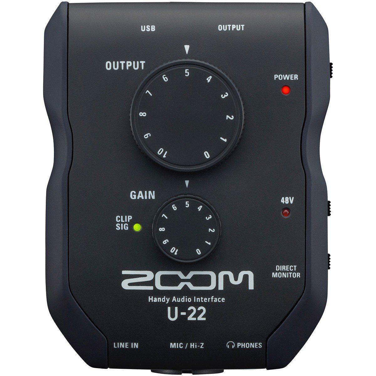 Zoom U-22 Interface de Áudio Zoom U22 Usb 2x2 Iphone Ipad 24-Bit 96-Khz Pc Mac