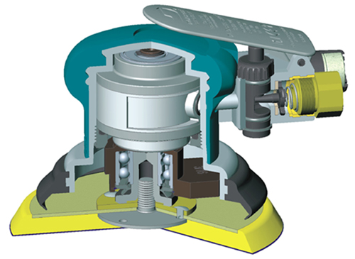 Lixadeira pneumática rotorbital (Dynorbital Spirit) 6 pol 0.25HP (186Watts) 12.000RPM aspiração central