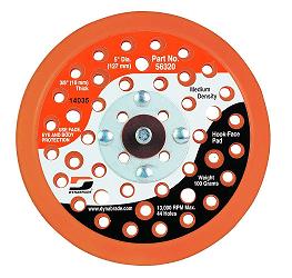 Disco suporte de lixa de uretano c/velcro c/furos