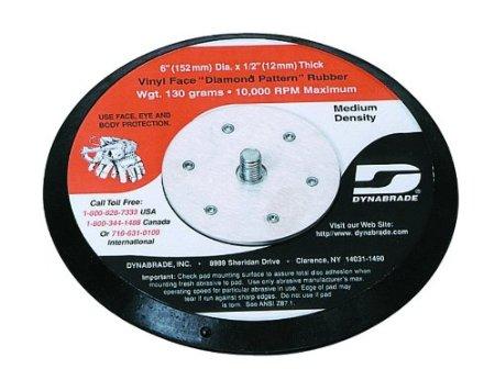Disco suporte de lixa de borracha c/vinil c/ furos